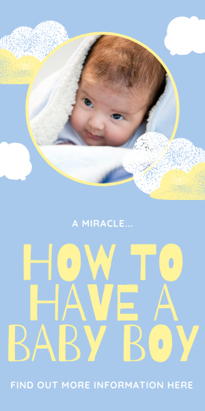 How to have a baby boy